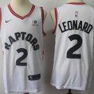 Men's Toronto Raptors 2 Kawhi Leonard Basketball Jersey White