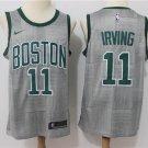 Men's Boston Celtics #11 Kyrie Irving Basketball Jersey Gray