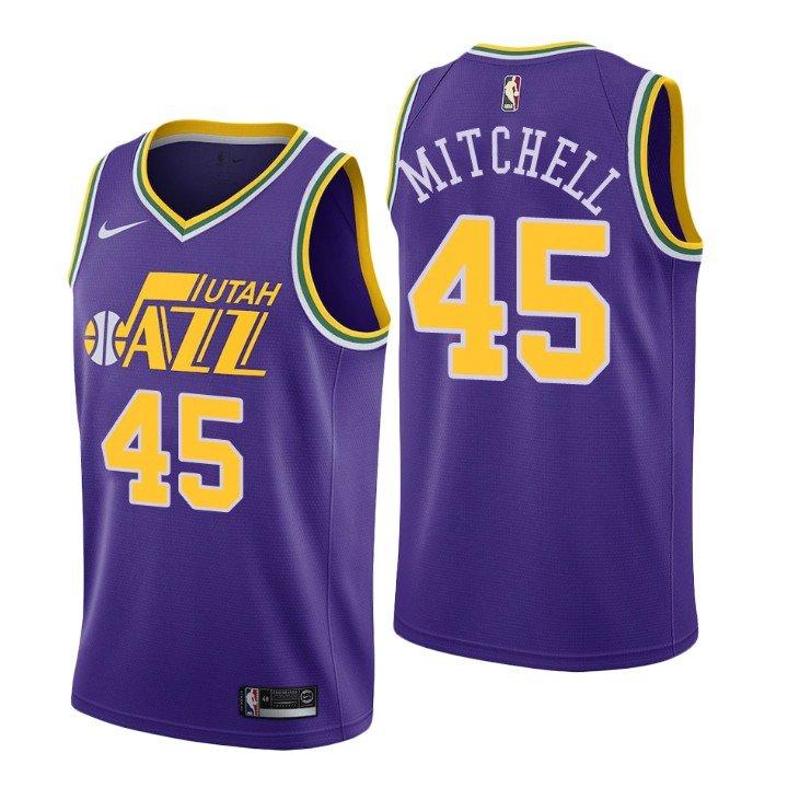 Men's Utah Jazz #45 Donovan Mitchell Jersey Purple City Edition