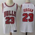 Men's Chicago Bulls #23 Michael Jordan Basketball Jersey White New