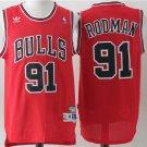 Men's Chicago Bulls #91 Dennis Rodman Basketball Jersey Red Throwback