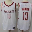 Men's Houston Rockets 13 James Harden Basketball Jersey White