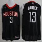 Men's Houston Rockets 13 James Harden Basketball Jersey Black