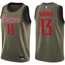 2018 Men's Rockets #13 James Harden Basketball Jersey Olive New