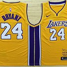 Men's Los Angeles Lakers #24 Kobe Bryant Jersey Yellow New