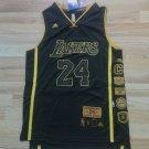 Men's Lakers 24 Kobe Bryant Basketball Jersey Black Throwback