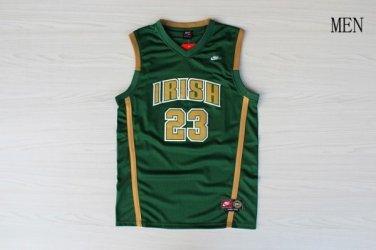 competitive price a10f6 41a54 Men's Irish High School #23 LeBron James Basketball Jersey Green