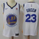 Men's Warriors #23 Draymond Green Basketball Jersey White