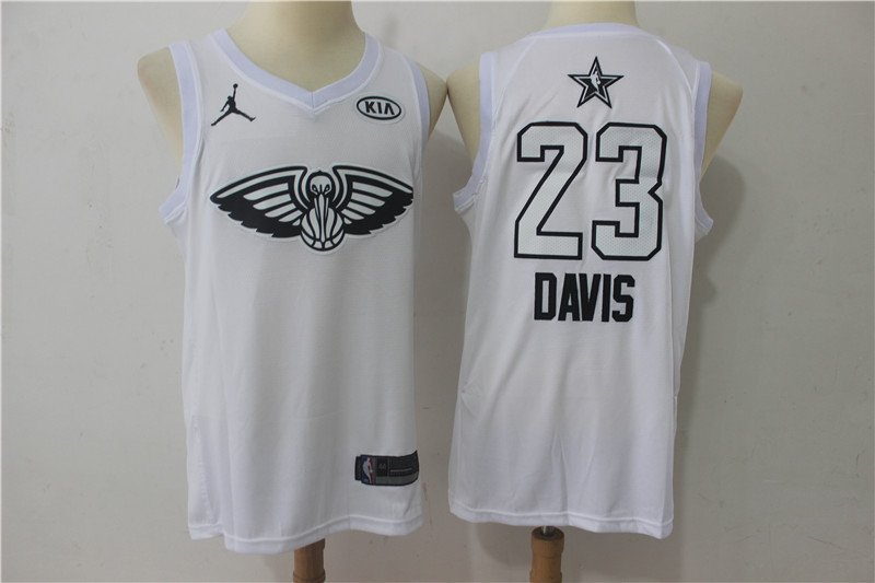 Men's ALL STAR GAME Pelicans 23 Anthony Davis Jersey White