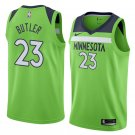 Men's Timberwolves #23 Jimmy Butler Jersey Green City Edition