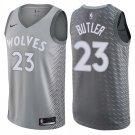 Men's Timberwolves #23 Jimmy Butler Jersey Gray City Edition