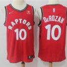 Men's Toronto Raptors #10 Demar Derozan Basketball Jersey Red