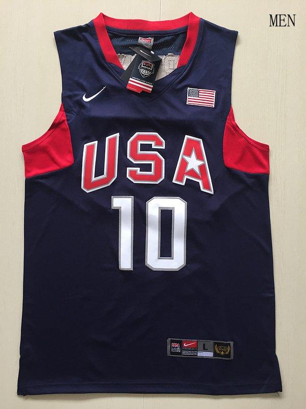 Men's USA Dream Team #10 Kobe Bryant Navy Blue Basketball Jersey