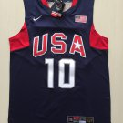 Men's USA Dream Team #10 Kobe Bryant Navy Blue Basketball Jersey