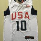 Men's USA Dream Team #10 Kobe Bryant White Basketball Jersey