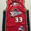 Men's Detroit Pistons #33 Grant Hill Basketball Jersey Red Throwback