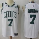 Men's Boston Celtics #7 Jaylen Brown Basketball Jersey White