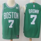 Men's Boston Celtics #7 Jaylen Brown Basketball Jersey Green