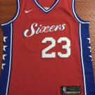 Men's Philadelphia 76ers #23 Jimmy Butler Jersey Red City Edition