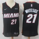 Men's Miami Heat 21# Hassan Whiteside Basketball Jersey Black