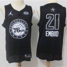 Men's ALL STAR 76ers #21 Joel Embiid Basketball Jersey Black