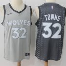 Men's Timberwolves #32 Karl-Anthony Towns Jersey Gray City Edition