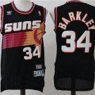 Men's Suns #34 Charles Barkley Basketball Jersey Black Throwback