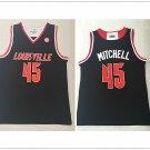 Men's University of Louisville 45# Donovan Mitchell Jersey Black NCAA