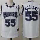 Men's Sacramento Kings #55 Jason Williams Basketball Jersey White