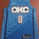 2019 Men's Oklahoma City Thunder #0 Russell Westbrook Blue Jersey