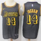 Men's Lakers #14 Brandon Ingram Basketball Jersey Black