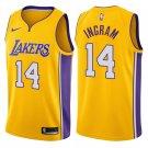 Men's Lakers #14 Brandon Ingram Basketball Jersey Yellow City Edition