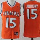 Men's Syracuse Orange Camerlo Anthony #15 Orange Basketball Jersey