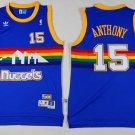 Men's Denver Nuggets #15 Carmelo Anthony blue basketball jersey