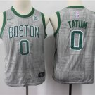 Youth Boston Celtics #0 Jayson Tatum Basketball Jersey Gray