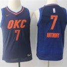 Youth Oklahoma City Thunder #7 Carmelo Anthony Jersey Blue Stripe