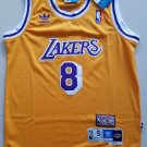 Youth Lakers #8 Kobe Bryant Basketball Jersey Yellow Throwback
