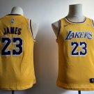 Youth Lakers #23 LeBron James Basketball Jersey Yellow new