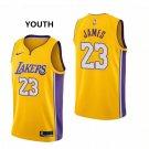 Youth Lakers #23 LeBron James Basketball Jersey Yellow