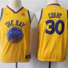 Youth Golden State Warriors #30 Stephen Curry Basketball Jersey Yellow