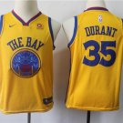 Youth/kids Golden state warriors #35 Kevin Durant Jersey Yellow
