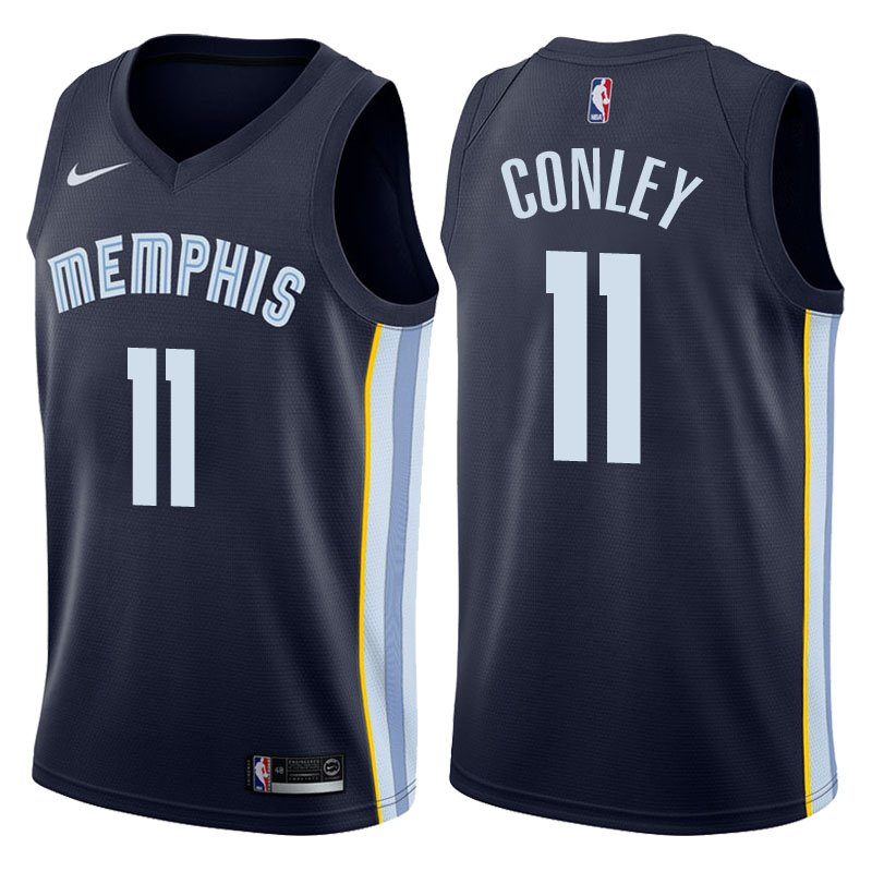 Men's Memphis Grizzlies #11 Mike Conley Basketball Jersey Navy Blue