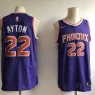 Men's Phoenix Suns 22# Deandre Ayton Purple Basketball Jersey