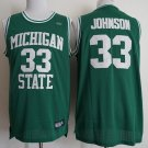 Men's Michigan State Spartans #33 Earvin Magic Johnson Green Jersey
