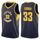Men's Indiana Pacers 33# Myles Turner Basketball Jersey Navy Blue Black