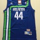 Men's Atlanta Hawks 44 Pistol Pete Maravich Throwback Jersey Blue