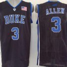 Mens Duke University Team 3 Grayson Allen Stitched Basketball Black Jersey