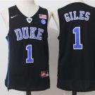 Men's Duke Blue Devils #1 Harry Giles Black College Basketball Jersey