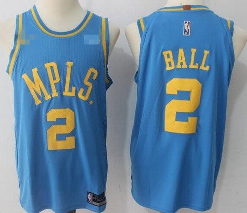 Men's Los Angeles Lakers MPLS #2 Lonzo Ball Basketball Jersey Blue