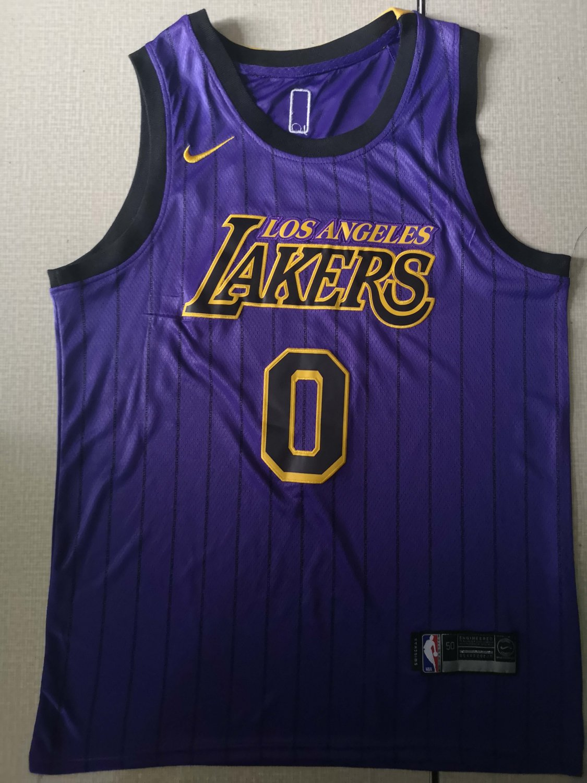 Men's Los Angeles Lakers #0 Kyle Kuzma
